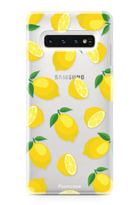 FOONCASE Samsung Galaxy S10 Plus hoesje TPU Soft Case - Back Cover - Lemons / Citroen / Citroentjes