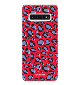 FOONCASE Samsung Galaxy S10 Plus - WILD COLLECTION / Rood