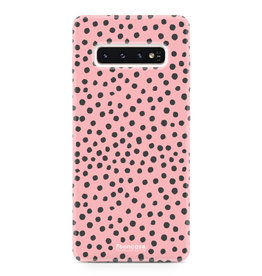 FOONCASE Samsung Galaxy S10 Plus - POLKA COLLECTION / Pink