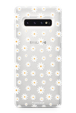 FOONCASE Samsung Galaxy S10 hoesje TPU Soft Case - Back Cover - Madeliefjes
