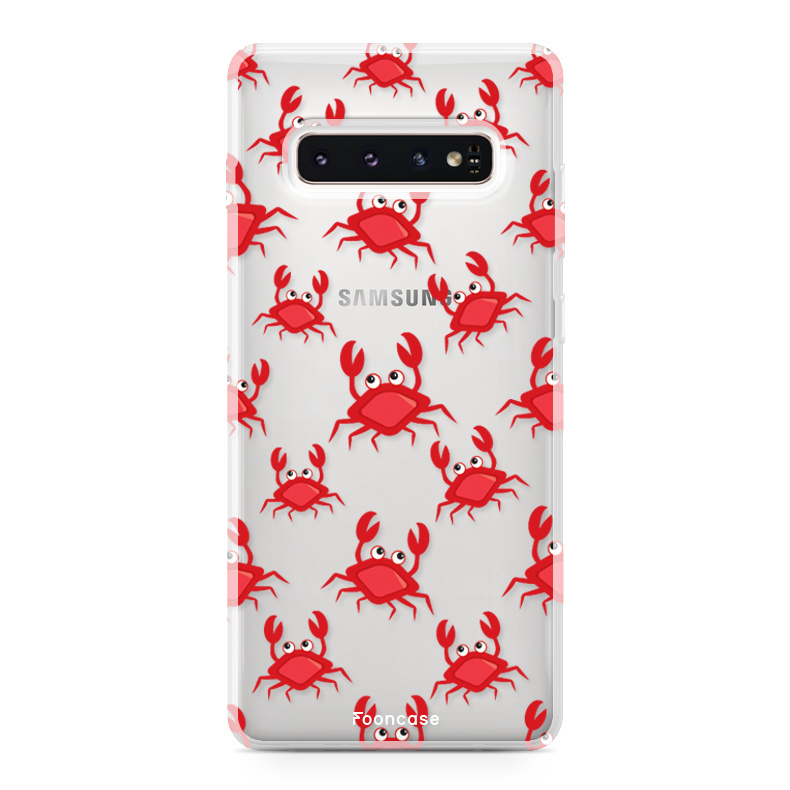 FOONCASE Samsung Galaxy S10 hoesje TPU Soft Case - Back Cover - Crabs / Krabbetjes / Krabben