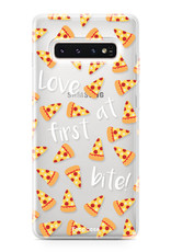 FOONCASE Samsung Galaxy S10 hoesje TPU Soft Case - Back Cover - Pizza / Food