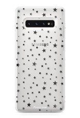 FOONCASE Samsung Galaxy S10 hoesje TPU Soft Case - Back Cover - Stars / Sterretjes