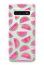 FOONCASE Samsung Galaxy S10 hoesje TPU Soft Case - Back Cover - Watermeloen