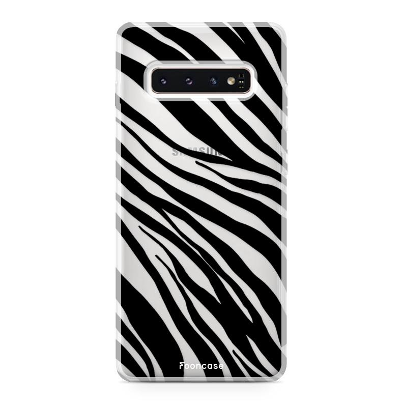 FOONCASE Samsung Galaxy S10 Handyhülle - Zebra