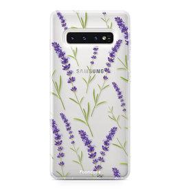 FOONCASE Samsung Galaxy S10 - Purple Flower