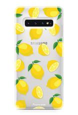 FOONCASE Samsung Galaxy S10 hoesje TPU Soft Case - Back Cover - Lemons / Citroen / Citroentjes
