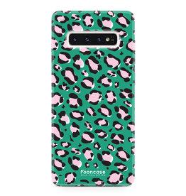FOONCASE Samsung Galaxy S10 - WILD COLLECTION / Groen