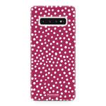 FOONCASE Samsung Galaxy S10 - POLKA COLLECTION / Rood