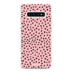 FOONCASE Samsung Galaxy S10 - POLKA COLLECTION / Rosa