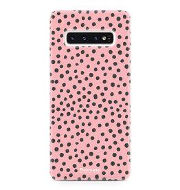 FOONCASE Samsung Galaxy S10 - POLKA COLLECTION / Roze