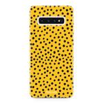FOONCASE Samsung Galaxy S10 - POLKA COLLECTION / Ockergelb