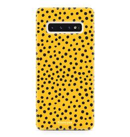 FOONCASE Samsung Galaxy S10 - POLKA COLLECTION / Ocher Yellow