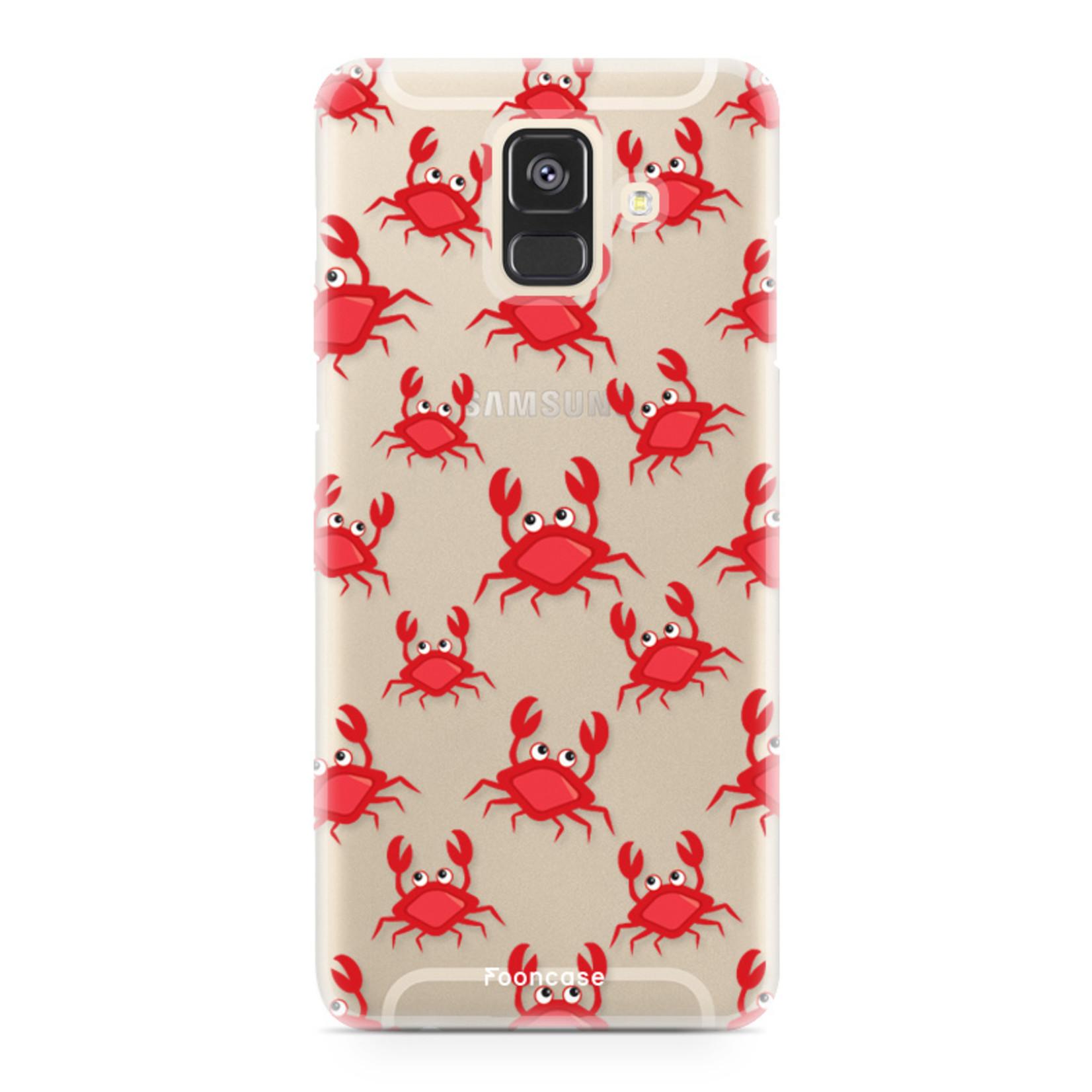 FOONCASE Samsung Galaxy A6 2018 hoesje TPU Soft Case - Back Cover - Crabs / Krabbetjes / Krabben