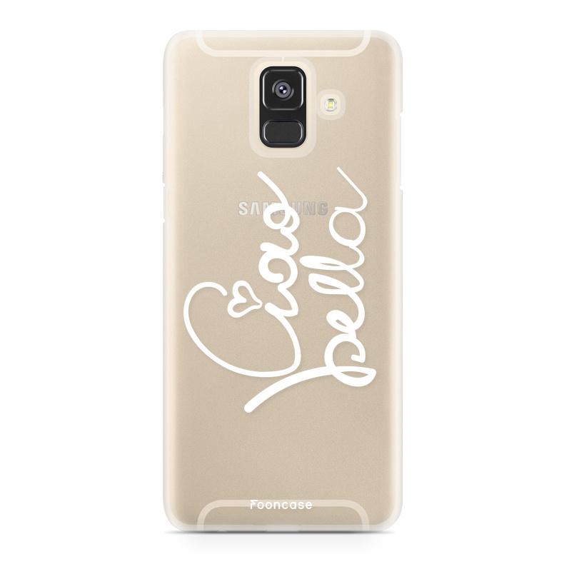 FOONCASE Samsung Galaxy A6 2018 hoesje TPU Soft Case - Back Cover - Ciao Bella!