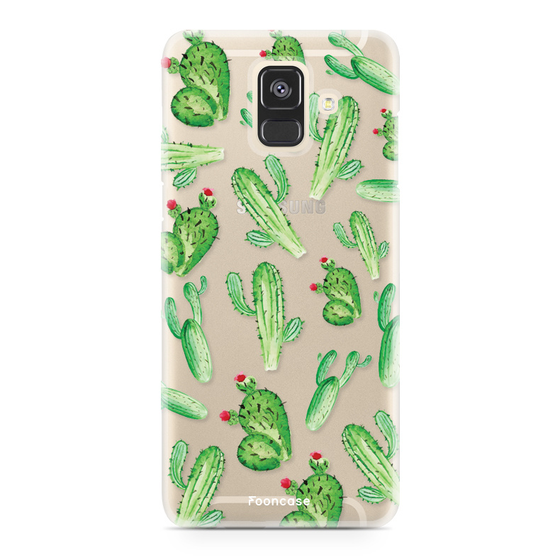 FOONCASE Samsung Galaxy A6 2018 hoesje TPU Soft Case - Back Cover - Cactus