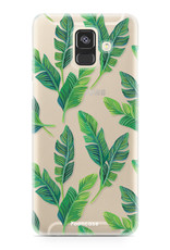 FOONCASE Samsung Galaxy A6 2018 hoesje TPU Soft Case - Back Cover - Banana leaves / Bananen bladeren