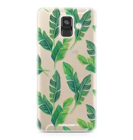 FOONCASE Samsung Galaxy A6 2018 - Banana leaves