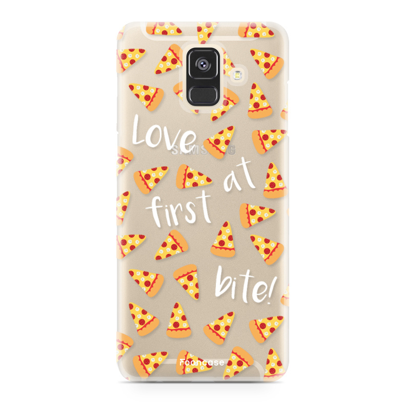 FOONCASE Samsung Galaxy A6 2018 hoesje TPU Soft Case - Back Cover - Pizza / Food