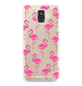 FOONCASE Samsung Galaxy A6 2018 - Flamingo