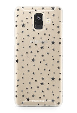 FOONCASE Samsung Galaxy A6 2018 hoesje TPU Soft Case - Back Cover - Stars / Sterretjes