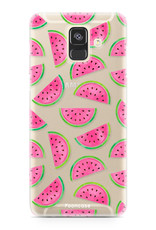 FOONCASE Samsung Galaxy A6 2018 hoesje TPU Soft Case - Back Cover - Watermeloen