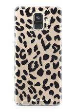 FOONCASE Samsung Galaxy A6 2018 hoesje TPU Soft Case - Back Cover - Luipaard / Leopard print