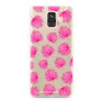 FOONCASE Samsung Galaxy A6 2018 - Pink leaves