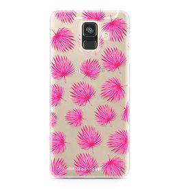 FOONCASE Samsung Galaxy A6 2018 - Rosa Blätter