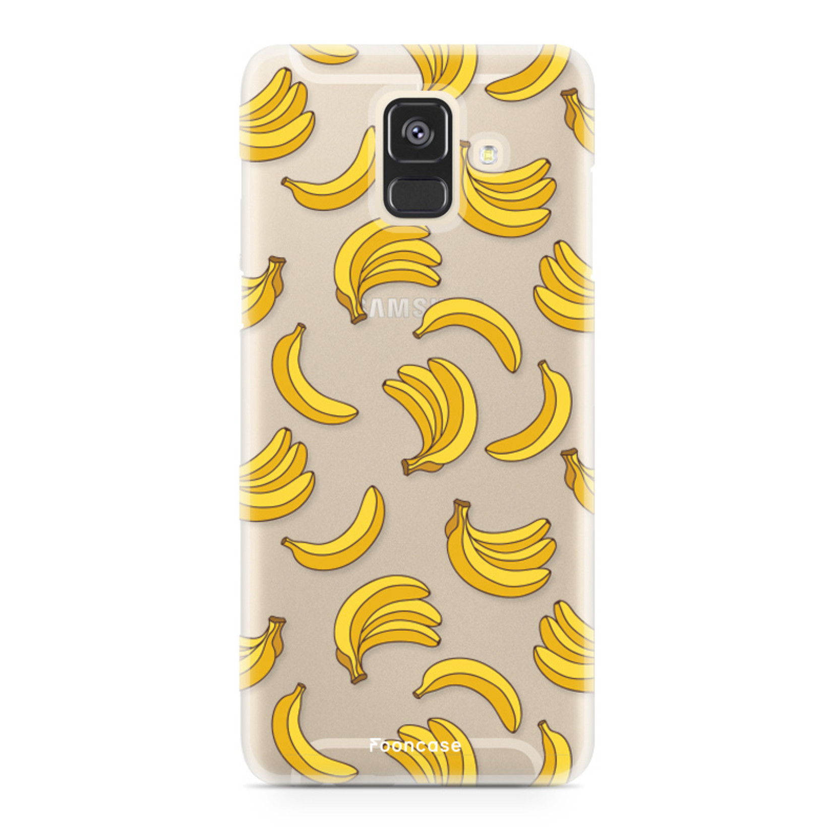 FOONCASE Samsung Galaxy A6 2018 hoesje TPU Soft Case - Back Cover - Bananas / Banaan / Bananen