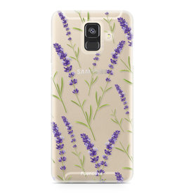 FOONCASE Samsung Galaxy A6 2018 - Purple Flower