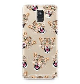 FOONCASE Samsung Galaxy A6 2018 - Cheeky Leopard