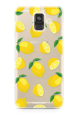 FOONCASE Samsung Galaxy A6 2018 hoesje TPU Soft Case - Back Cover - Lemons / Citroen / Citroentjes