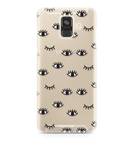 FOONCASE Samsung Galaxy A6 2018 - Eyes