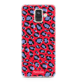 FOONCASE Samsung Galaxy A6 2018 - WILD COLLECTION / Rood