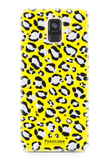 FOONCASE Samsung Galaxy A6 2018 hoesje TPU Soft Case - Back Cover - WILD COLLECTION / Luipaard / Leopard print / Geel