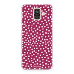 FOONCASE Samsung Galaxy A6 2018 - POLKA COLLECTION / Red