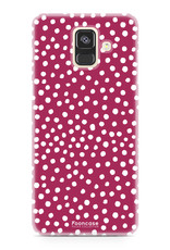 FOONCASE Samsung Galaxy A6 2018 hoesje TPU Soft Case - Back Cover - POLKA COLLECTION / Stipjes / Stippen / Rood