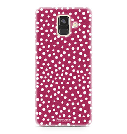 FOONCASE Samsung Galaxy A6 2018 - POLKA COLLECTION / Rood