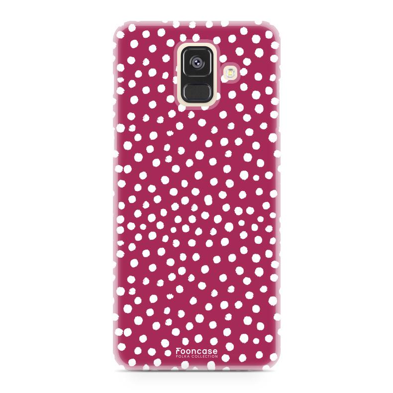 FOONCASE Samsung Galaxy A6 2018 - POLKA COLLECTION / Rot