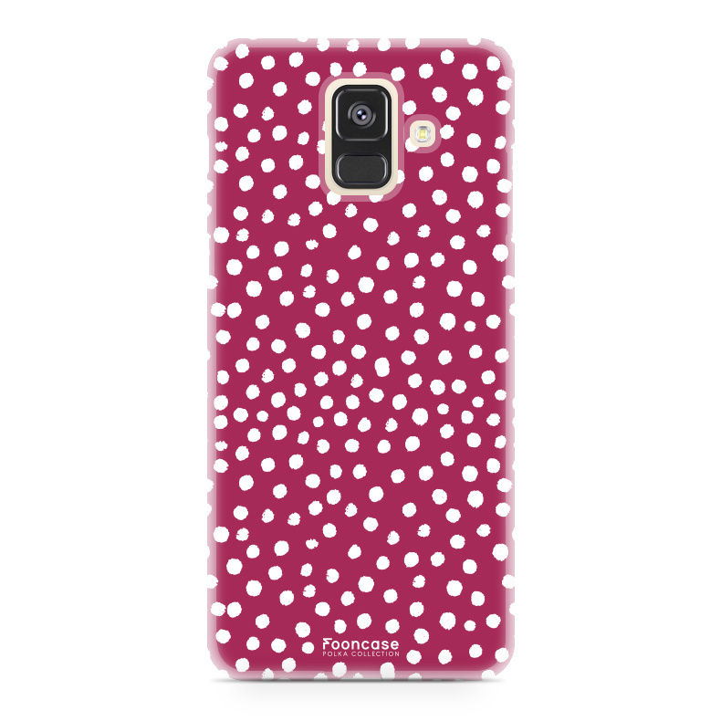 Samsung Samsung Galaxy A6 2018 - POLKA COLLECTION / Rood