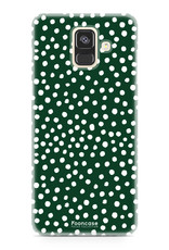 Samsung Samsung Galaxy A6 2018 - POLKA COLLECTION / Donker Groen