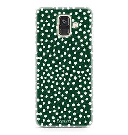Samsung Samsung Galaxy A6 2018 - POLKA COLLECTION / Donker Groen