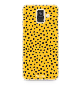 FOONCASE Samsung Galaxy A6 2018 - POLKA COLLECTION / Oker Geel