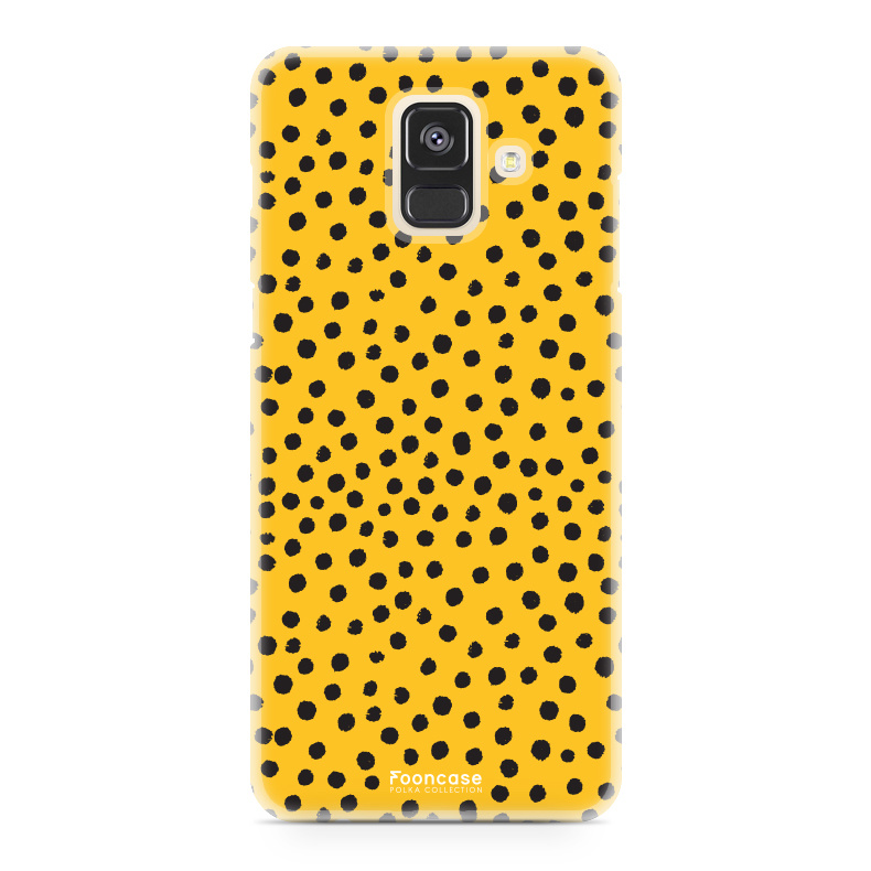 Samsung Samsung Galaxy A6 2018 - POLKA COLLECTION / Oker Geel