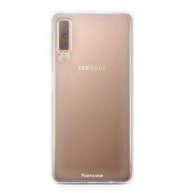 FOONCASE Samsung Galaxy A7 2018 - Transparant