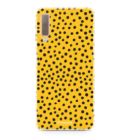 FOONCASE Samsung Galaxy A7 2018 - POLKA COLLECTION / Ockergelb