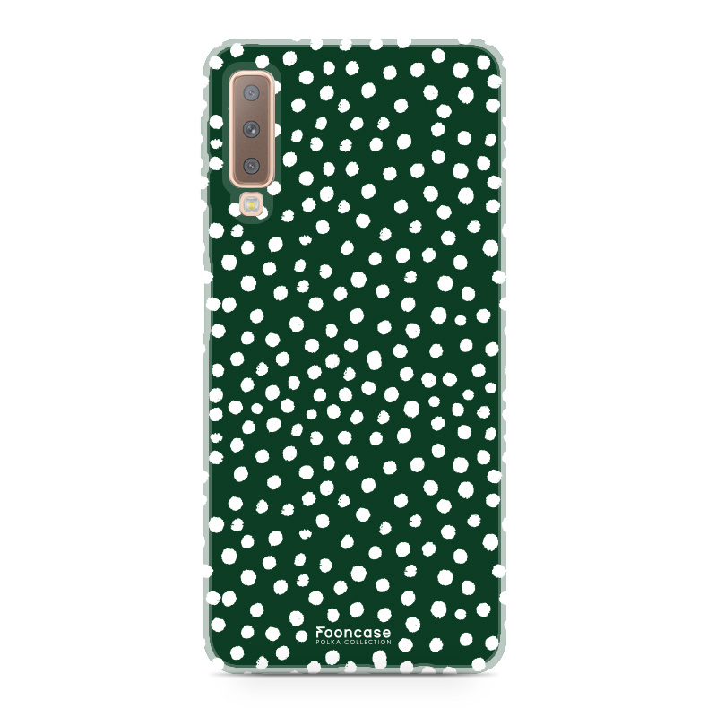 Samsung Samsung Galaxy A7 2018 - POLKA COLLECTION / Donker Groen