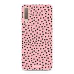 FOONCASE Samsung Galaxy A7 2018 - POLKA COLLECTION / Pink