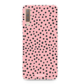 FOONCASE Samsung Galaxy A7 2018 - POLKA COLLECTION / Roze